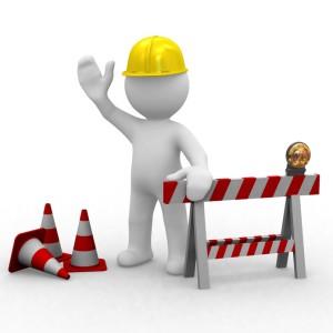 huppy worker,under constuction